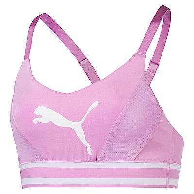PUMA-女性訓練系列跳豹拼接中衝擊運動內衣-淺淡紫-歐規