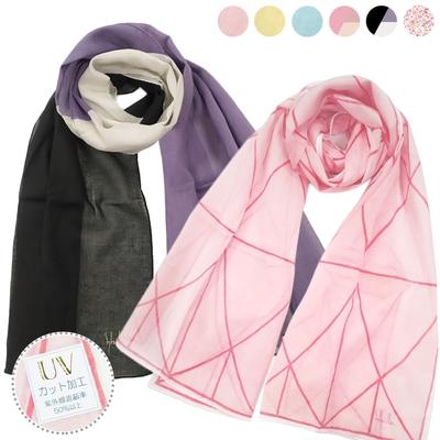 [時時樂限定]Sybilla x DAKS精選抗UV薄圍巾純綿長絲巾-6款