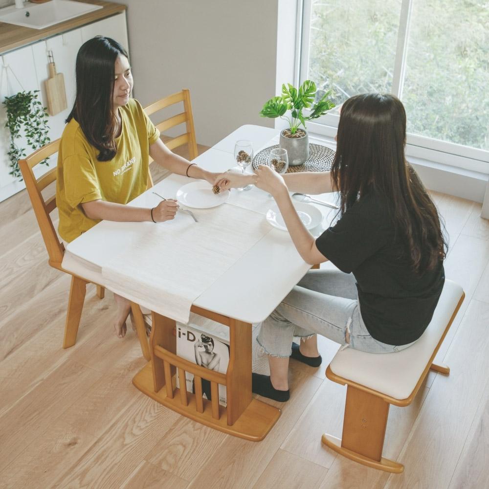完美主義 日式鏡面伸縮餐桌/桌子/可收納