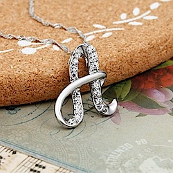 米蘭精品 925純銀項鍊-時尚簡約A英文字母