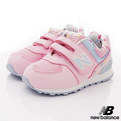 NewBalance 小花後穩定機能鞋款 FI74KCR粉(小童段)