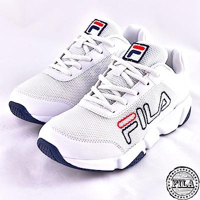 FILA 男女連號款  526系列 網布 慢跑鞋~白