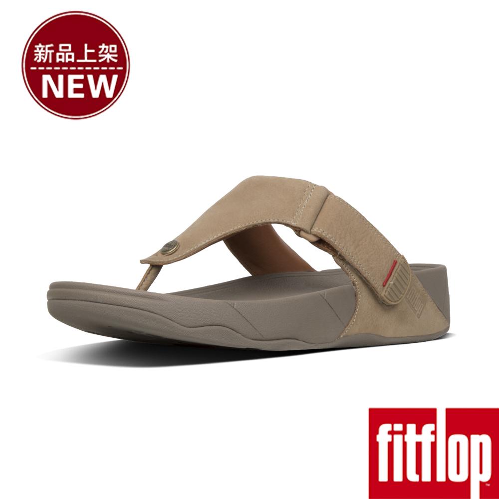 FitFlop TRAKK II LEATHER TOE-THONG-羽毛灰