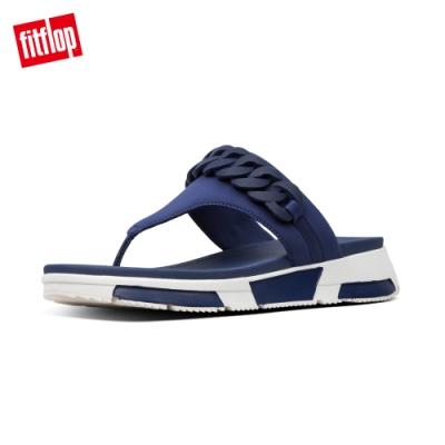 FitFlop HEDA CHAIN TOE-THONGS 運動風夾腳涼鞋-女(午夜藍)
