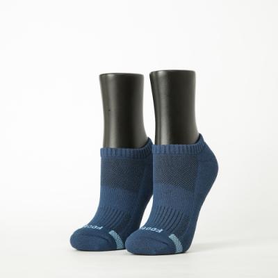 Footer除臭襪-單色運動逆氣流氣墊船短襪-六雙入(藍*2+桃紅*2+深灰*2)