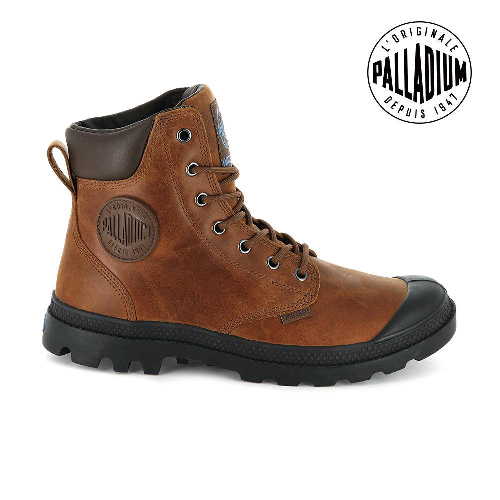 Palladium Pampa Cuff WP Lux防水靴-男-淺棕/深棕