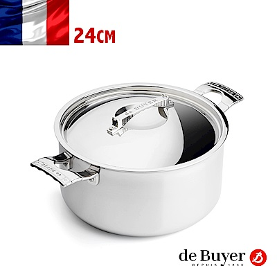 法國de Buyer畢耶鍋具 藍嶽頂級系列-雙握耳燉鍋24cm