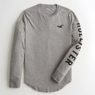 Hollister HCO 長袖 T恤 灰色  1424
