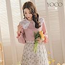 東京著衣-YOCO 人氣必敗花朵蕾絲拼接襯衫-(共二色)