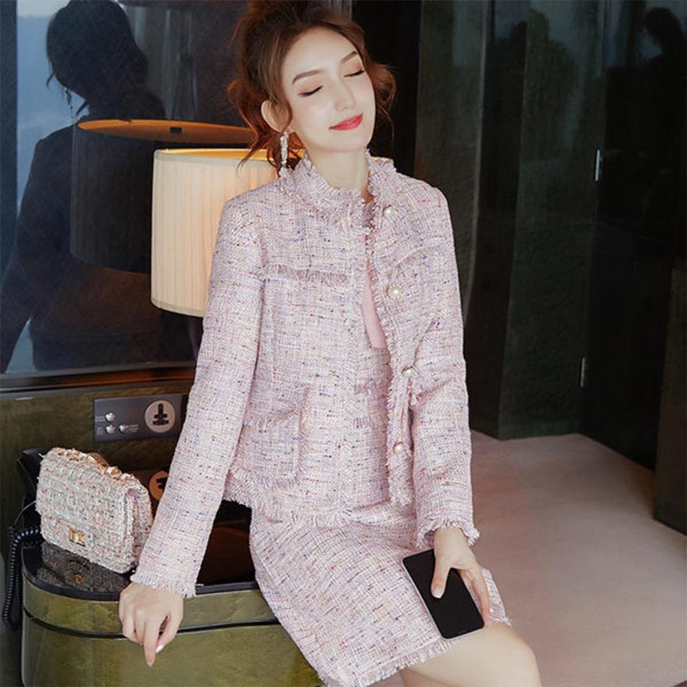 設計所在Lady-兩件套小香風套裝時尚洋裝(S-XL可選)
