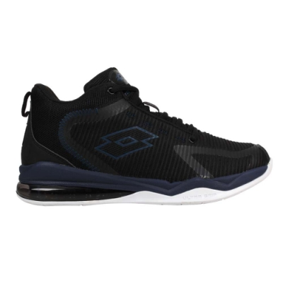 LOTTO 男氣墊籃球鞋-運動 慢跑 反光 炫彩 LT0AMB2730 黑丈青