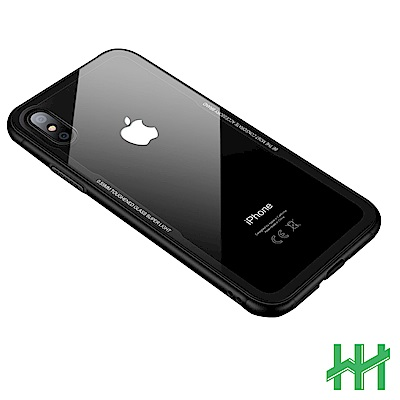 鋼化玻璃手機殼系列 Apple iPhone XS / X  (5.8吋)(透明黑邊)