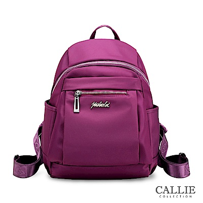 CALLIE 威尼斯系列 多隔層尼龍後背包 Chioggia 紫