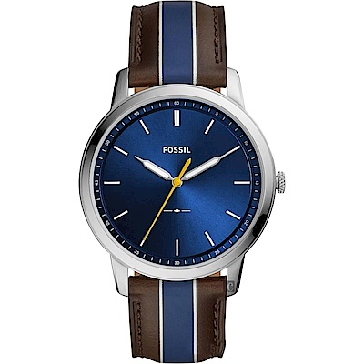 FOSSIL Minimalist 薄型簡約手錶(FS5554)-藍/44mm