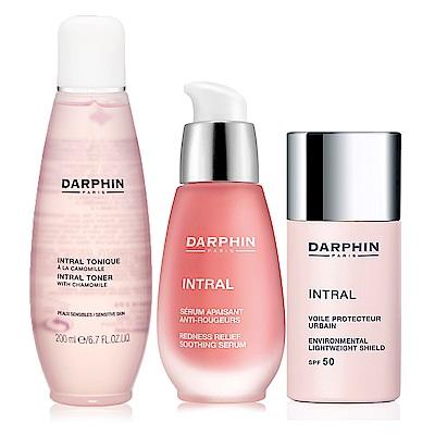 Darphin朵法全效舒緩粉紅療癒經典組-化妝水200ml+精華液30ml+隔離霜30ml