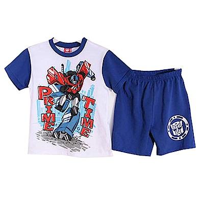 變形金剛抗菌純棉短袖套裝 藍 k50344 魔法Baby