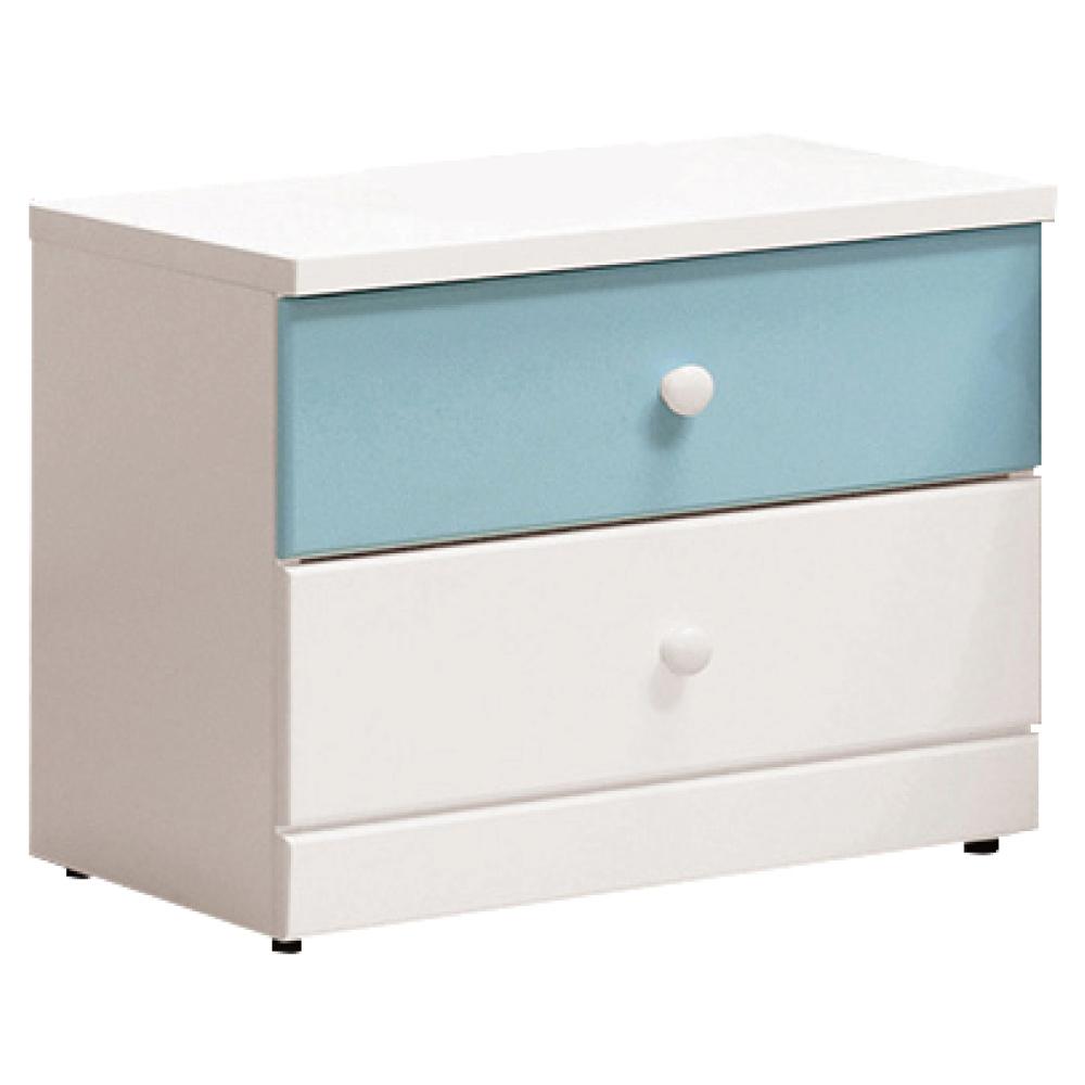 文創集 洛西時尚1.7尺雙色床頭櫃/收納櫃(二色可選)-52x40x45.5cm免組