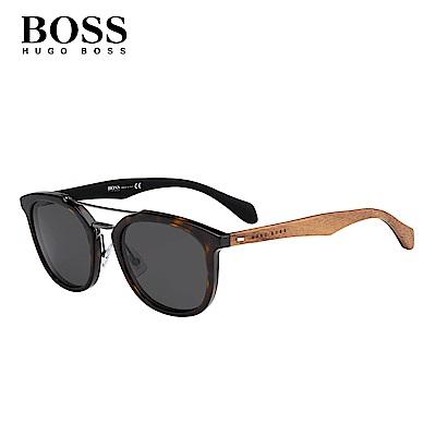 HUGO BOSS BOSS 1004/S-時尚拼接型男太陽眼鏡 玳瑁色