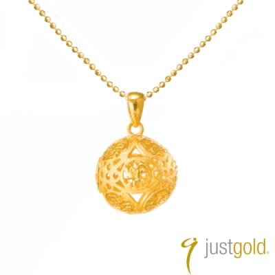 鎮金店Just Gold 通花波波純金系列 黃金墜子 (福字)