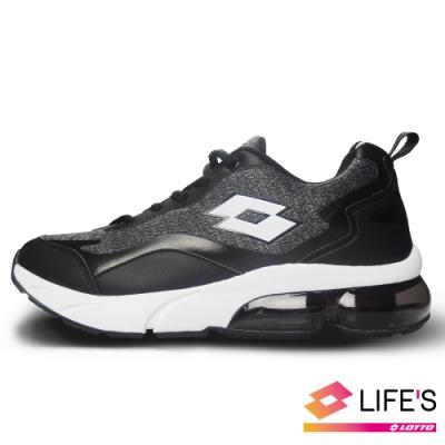 LOTTO 義大利 男 FLOAT 氣墊跑鞋(黑)