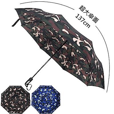 [團購2入組] 2mm 超大!街頭迷彩 超大傘面自動開收傘