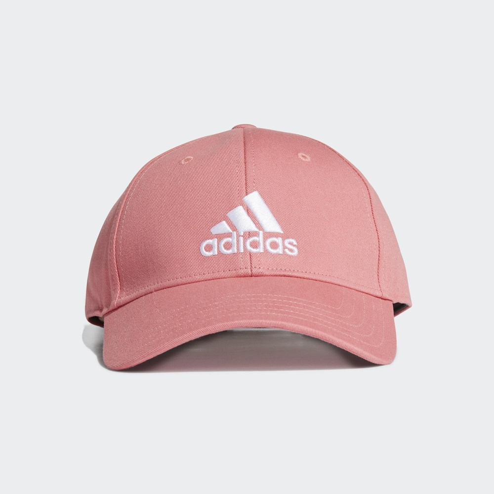ADIDAS  BBALL CAP COT 男女 運動帽 老帽-粉-GM6272