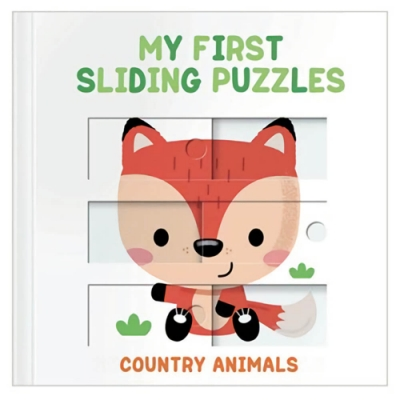 My First Sliding Puzzles:Country Animals 拼圖操作書:鄉村動物篇