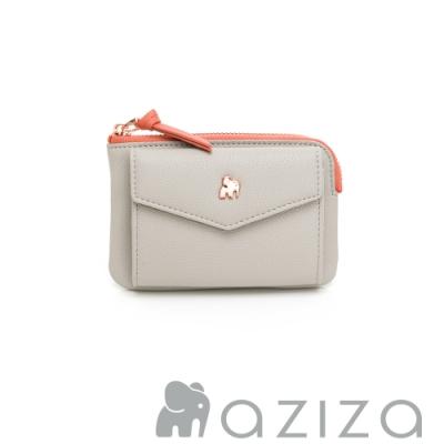 aziza CLARA鑰匙零錢包-小象灰