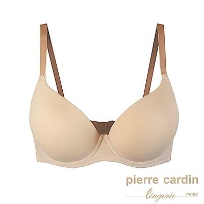 Pierre Cardin皮爾卡登 C罩 無痕高脅邊集中型內衣(BEI膚)