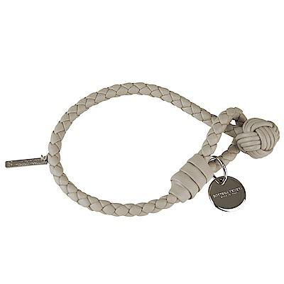 BV BOTTEGA VENETA 純手工編織單環小羊皮手環(奶茶色)