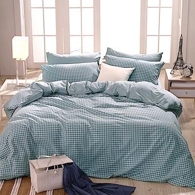 鴻宇 雙人特大床包枕套組 色織水洗棉 法蘭西 台灣製