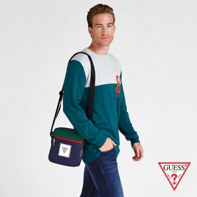GUESS-男包-撞色時尚小包-深藍