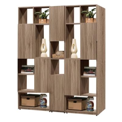 文創集 威爾比5尺雙面櫃(二色+四種組合可選)-150x30x180cm免組