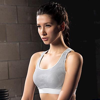 華歌爾-放膽穩型 A-B 罩杯專業運動內衣(灰)雙W專利