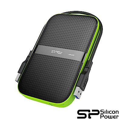 SP廣穎 Armor A60 1TB(黑綠) 2.5吋軍規防震行動硬碟