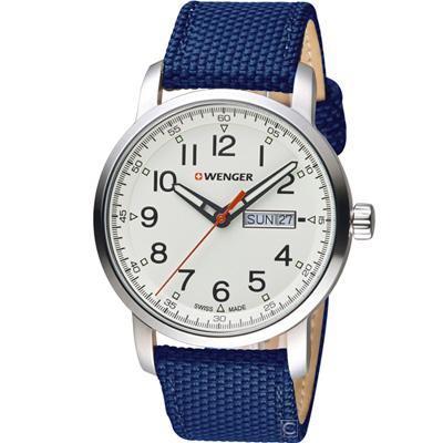 WENGER 戰鬥叢林 休閒腕錶(01.1541.113)藍/42mm