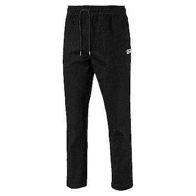 PUMA-男性流行系列Downtown開口長褲-黑色-歐規