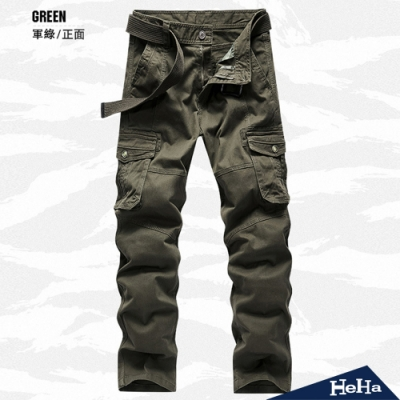 HeHa-美式軍裝大口袋休閒工裝褲 三色