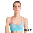 Mollifix瑪莉菲絲 高調A++零負擔舒適背心_(撞色藍+粉)
