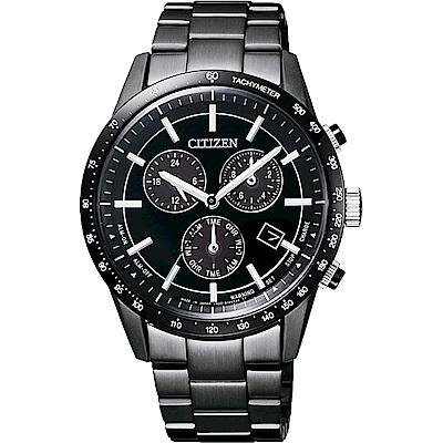 CITIZEN 星辰 光動能40週年限量計時錶-黑/40mm(BL5495-56L)
