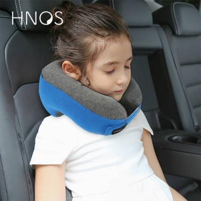 【HNOS】多用途記憶棉護頸兒童午睡枕 - 午休旅行好夥伴 天空藍