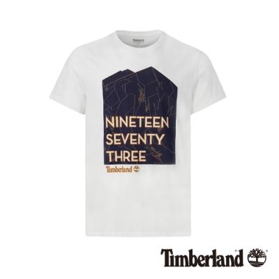 Timberland 男款白色風格印花短袖T恤|A1YHZ
