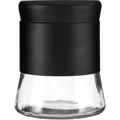 《Premier》旋蓋玻璃收納罐(黑800ml)
