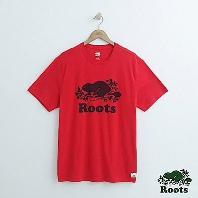 男裝Roots-庫柏海狸短袖T恤-紅