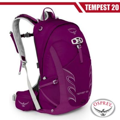 OSPREY 女新款 Tempest 20 極輕量健行登山背包(S/M)_神秘紅 R