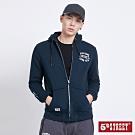 5th STREET 異素材貼袋 連帽外套-男-丈青