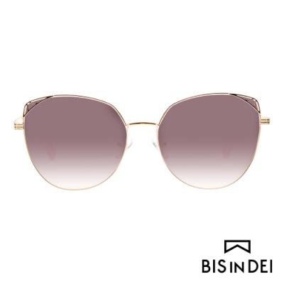 BIS IN DEI 貓眼蝴蝶框太陽眼鏡-棕