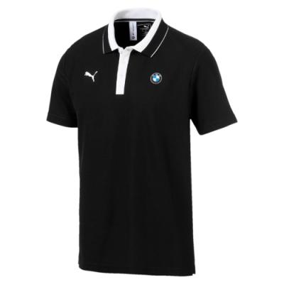 PUMA-男性BMW系列MMS短袖Polo衫-黑色-歐規