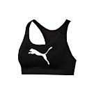 PUMA 女訓練系列跳豹中衝鋒運動內衣-運動背心 慢跑 路跑 有氧 瑜珈 黑白