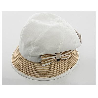 ELLE俏麗潮流棉麻異素材設計圓帽